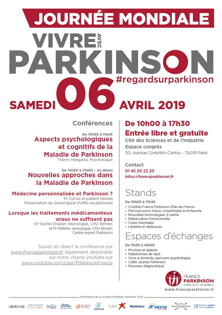 Affiche journée mondiale Parkinson 2019