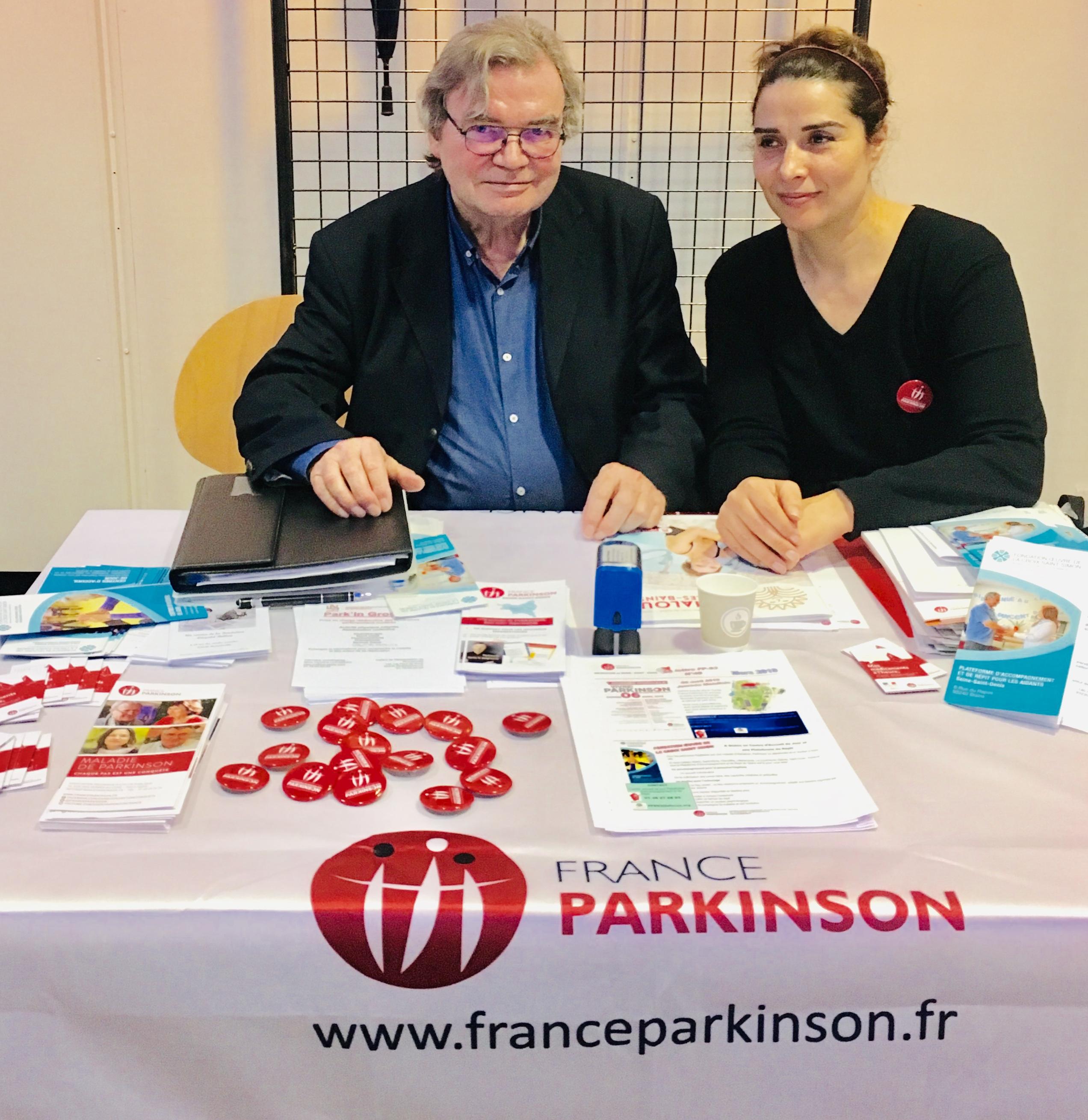 Mr DELAVAL, Délégué Départemental de FRANCE PARKINSON Seine-Saint-Denis et le Dr WAHID-BOUMLAK, de la Plateforme de répit des aidants Saint-Vincent de Paul