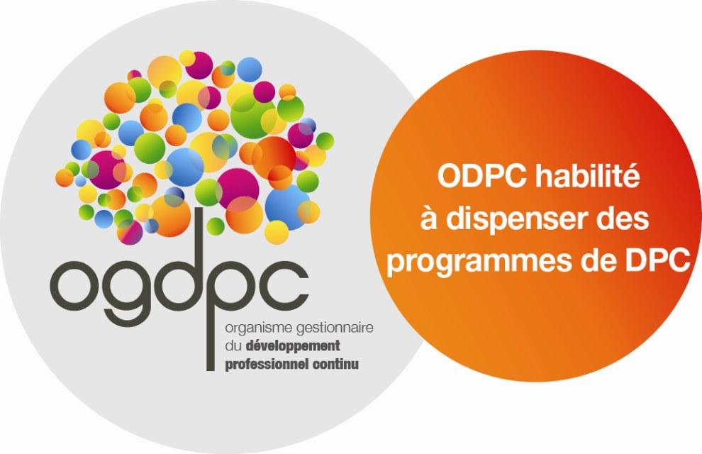 Logo du label ogdpc; la Fondation Oeuvre de la Croix Saint-Simon est un organisme habilité à dispenser des programmes de DPC