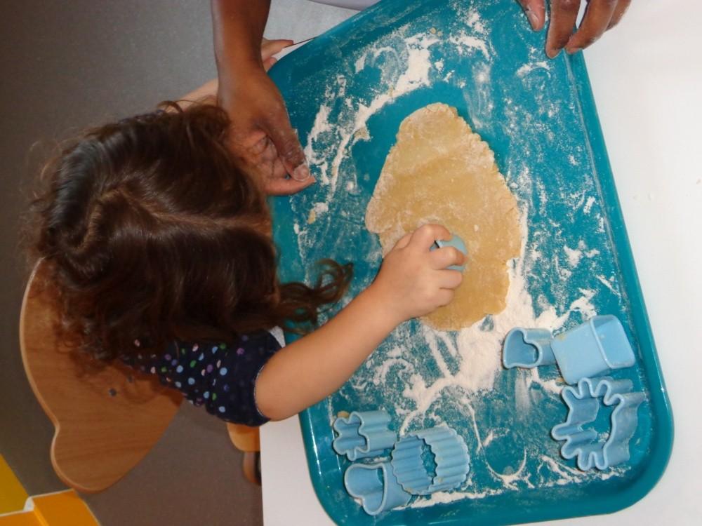Crèche Les petits Gailhard, atelier biscuits