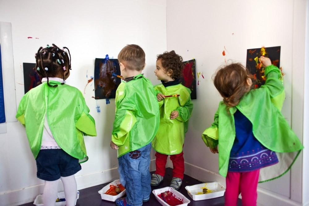 Multi-accueil Clavel, peinture (Fondation Oeuvre de la Croix Saint-Simon)