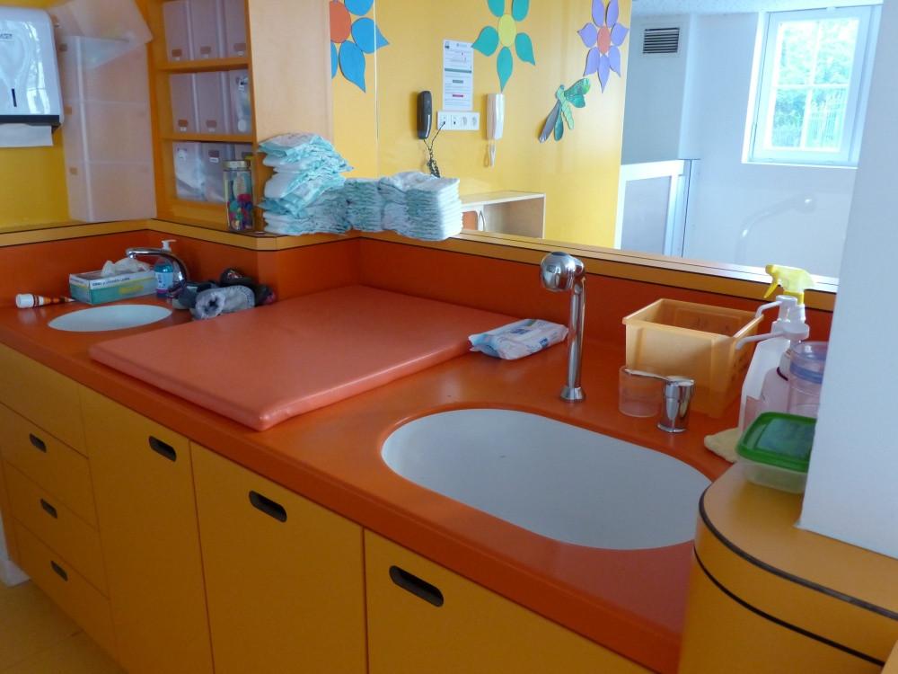 Multi-accueil Les petits Gailhard, espace changes