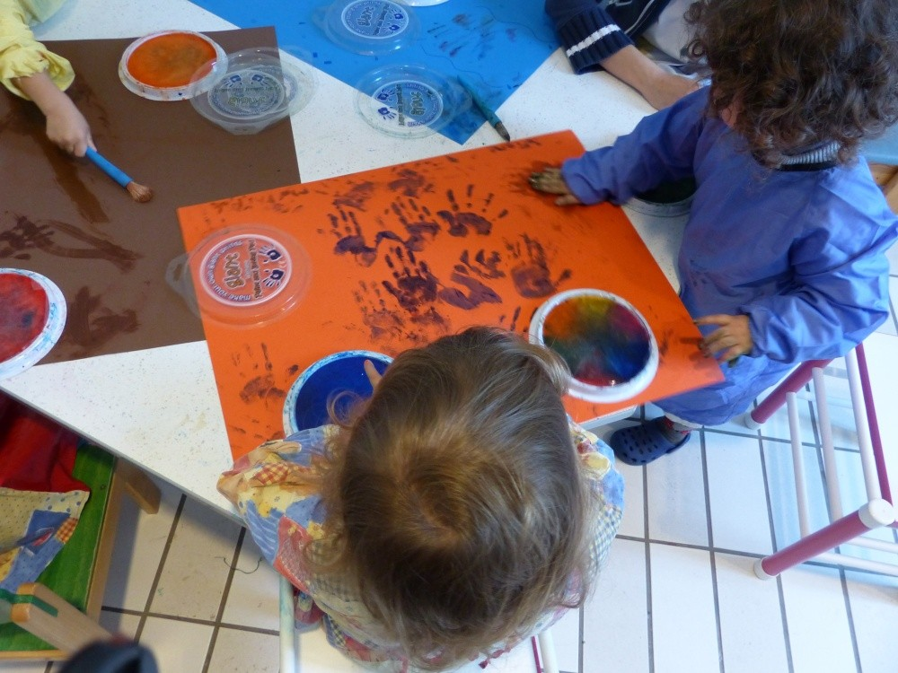 Crèche Père Lachaise, atelier peinture