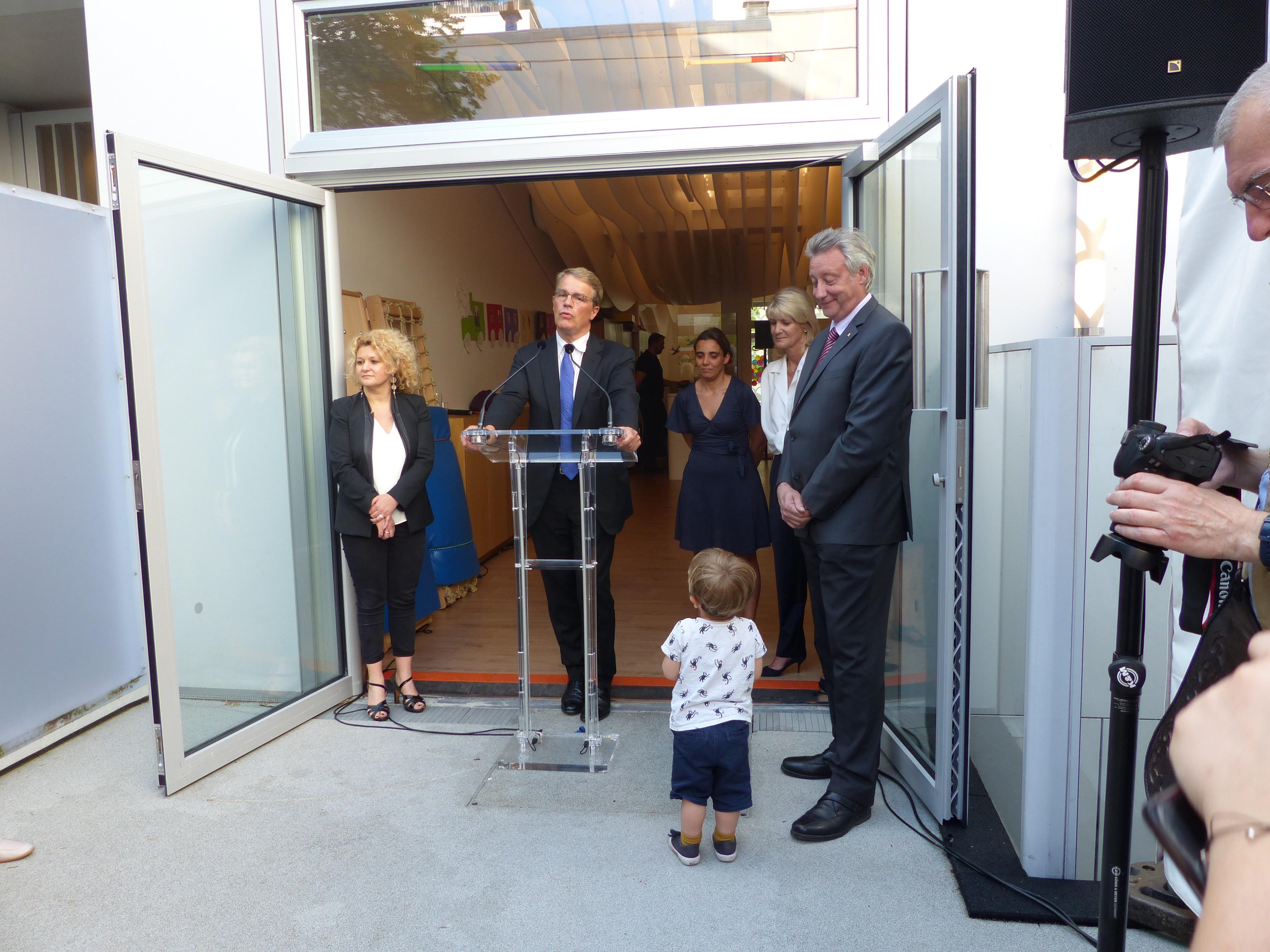 Inauguration du multi-accueil Kirigami de la Fondation Oeuvre de la Croix Saint-simon