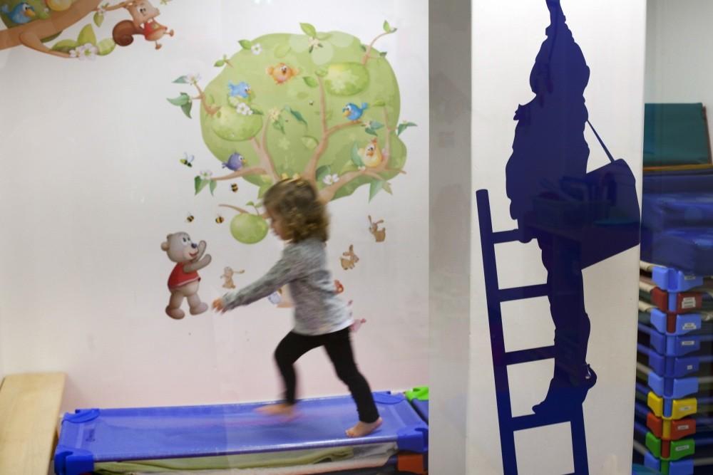 Multi-accueil La souris verte, trampoline