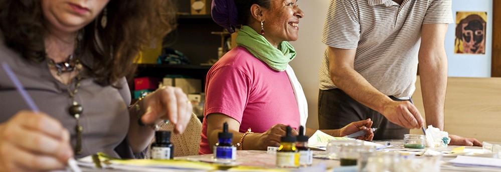 Atelier de peinture de la Fondation Oeuvre de la Croix Saint-Simon