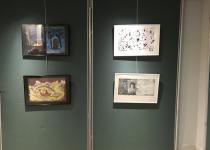 Peintures atelier art-thérapie du Centre d'accueil de jour Marie de Miribel de la Fondation Oeuvre de la Croix Saint-Simon