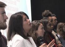 Les étudiants de l'IFPS de la fondation oeuvre de la croix saint simon en projection débat